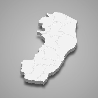 ブラジルの3 dマップ状態