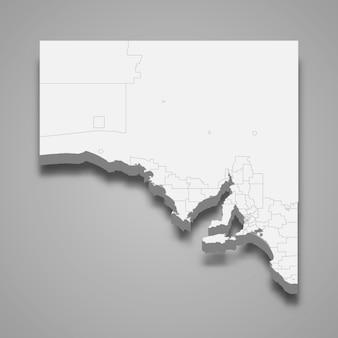 オーストラリアの3 dマップ状態
