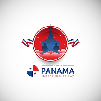 3 ноября панама день независимости фон векторное изображение