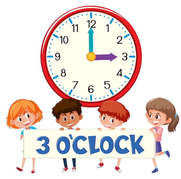 3 o'clock and students