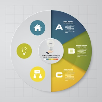 3 options presentation business infographics template.
