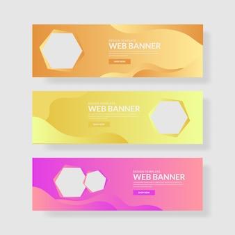 3 установите цветной баннер с палитрой с шестиугольником и жидким композитом