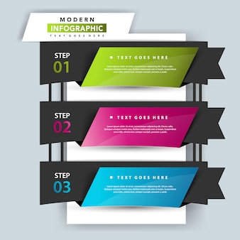 3 step infographic illustration template