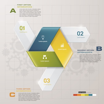 3 steps of arrow Infografics template