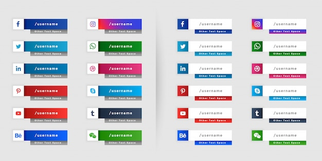 人気のソーシャルメディアの下3番目のwebバナーデザイン