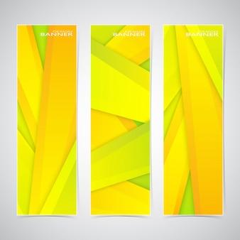 3つのカラフルなwebバナーのコレクション。あなたのデザインに使用できます。ベクトル図