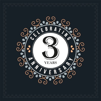 3 years anniversary design template