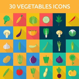 30 vegetable icons