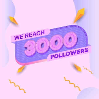 3000 followers square banner modern look
