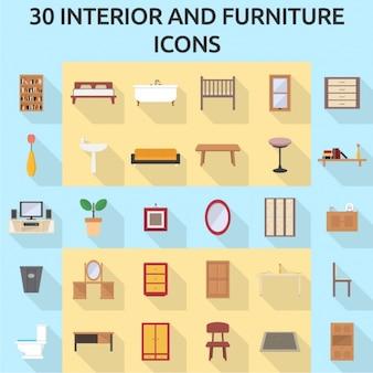 30 мебель иконки