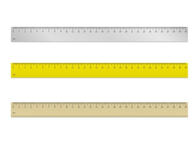 Линейка 30 см вектор