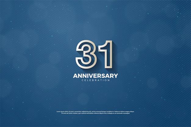 31-я годовщина фон с номерами специальных символов