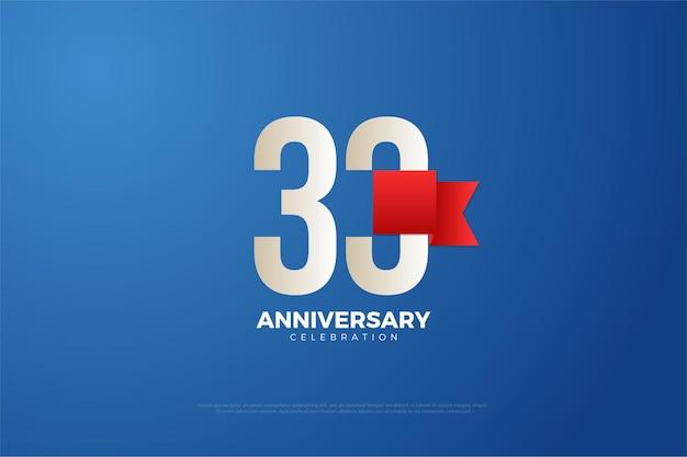 33-я годовщина с использованием современного дизайна цифр Premium векторы