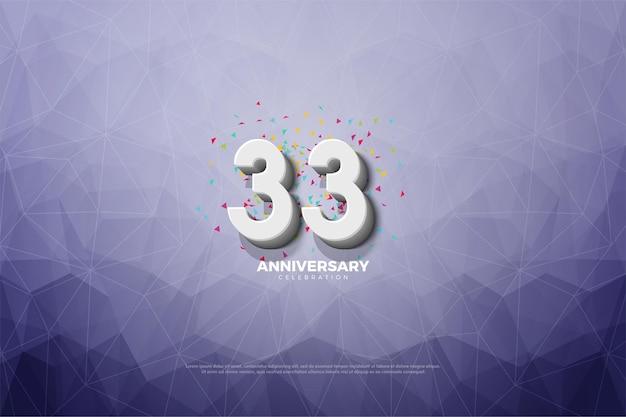 33-я годовщина с 3-мя числами Premium векторы