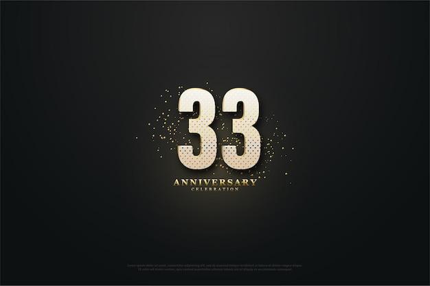 33-летие с роскошными золотыми номерами