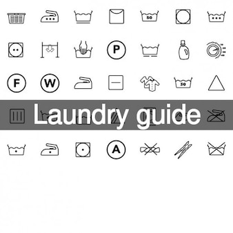 35 laundry guide icons