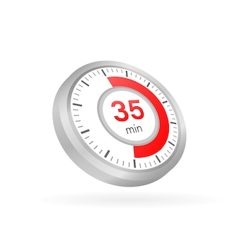 The 35 minutes, stopwatch vector icon
