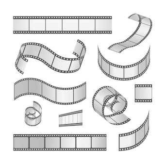 スライドフィルムフレームセット、ロール35mm。メディアフィルムストリップネガおよびストリップ