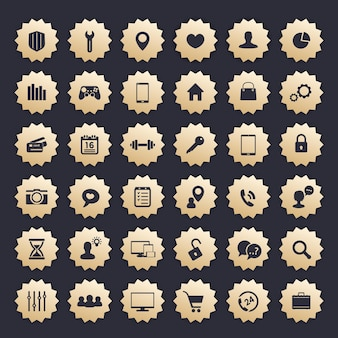36 icons for web, apps and other projects