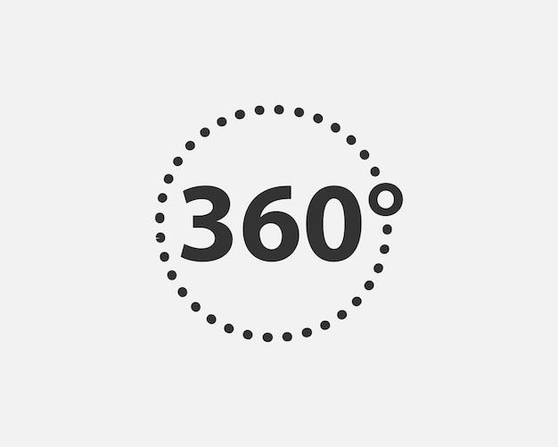 360도 보기 벡터 아이콘입니다. 웹 사이트, 웹 디자인, 모바일 앱의 기호 및 기호입니다.