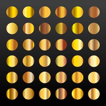 Большой набор из 36 золотых градиентов