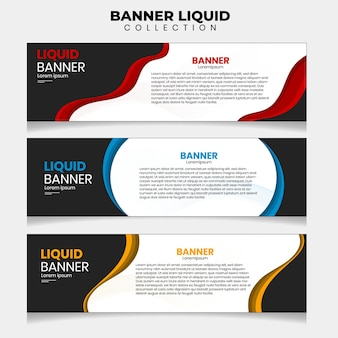 37. banner liquid vector illustration . suitable for your ads