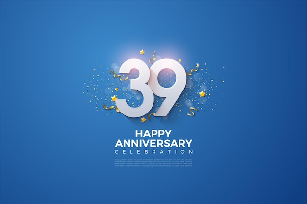 39-я годовщина с огромными числами