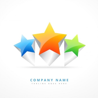 3つ星とロゴ