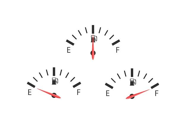 3つの燃料数値
