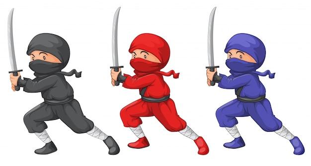 3人の忍者