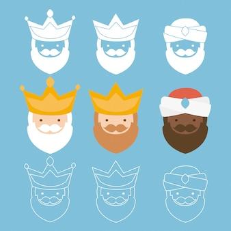 オリエンテーションの3人の王