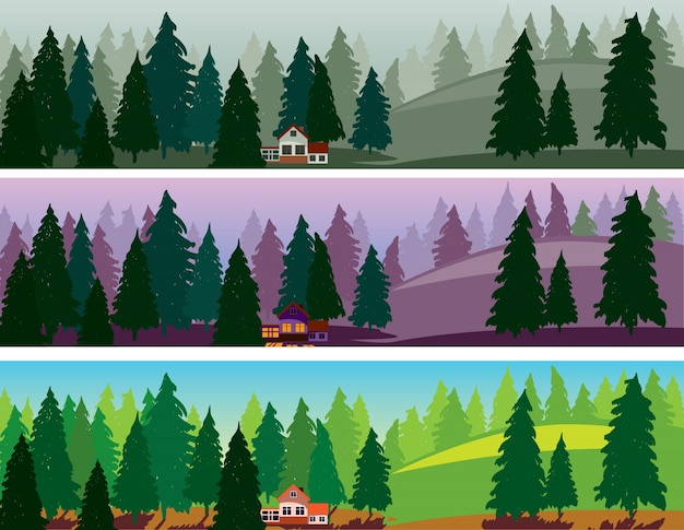 森林3つの旗