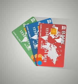 3枚のカード、クレジットカード