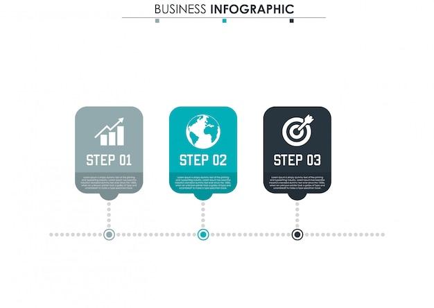 Абстрактные элементы графа, диаграмма с 3 шагами, стратегия, варианты, части или процессы.
