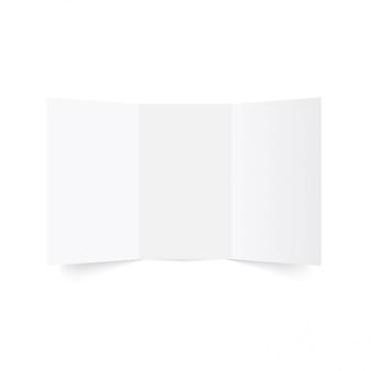 3つ折りパンフレットのモックアップ。