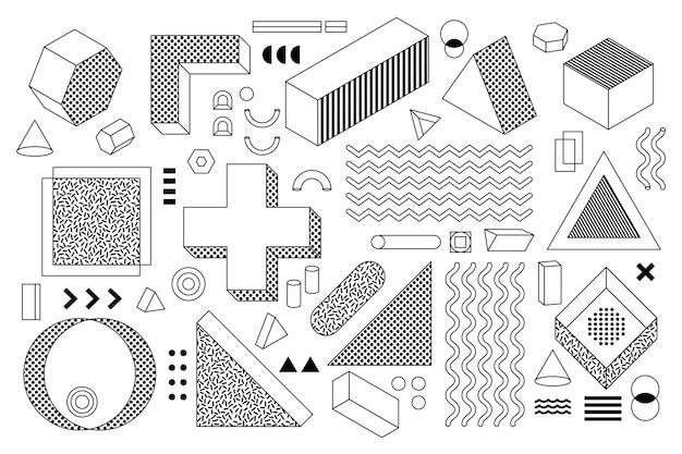 Элементы дизайна мемфис-3 вверх
