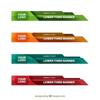 フラットデザインのいくつかの色の低い3番目