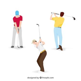 3つのゴルフスイングコレクション