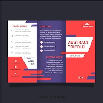 抽象的な3つ折りパンフレットテンプレート