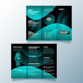 抽象的なデザイン3つ折りパンフレット