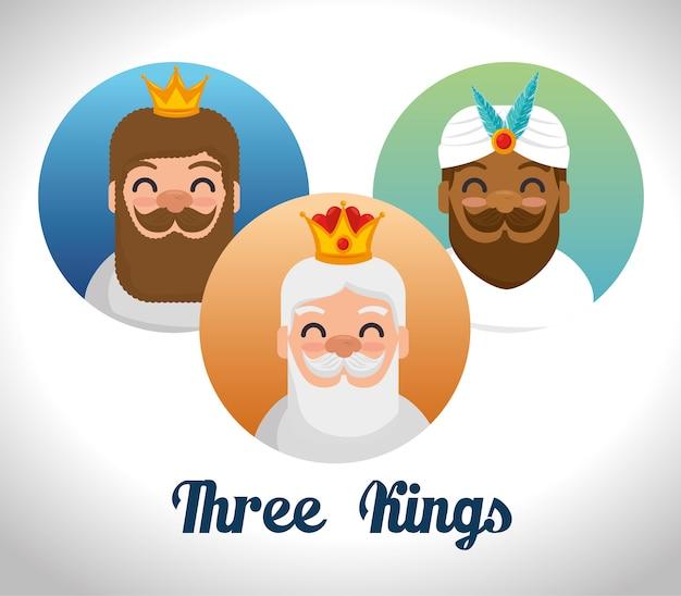 オリエンテーションの漫画の3つの魔法の王