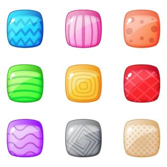 Красочная головоломка квадратный блок для матча 3 игры