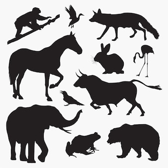 動物3シルエット