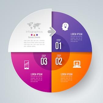 3 этапа бизнес-инфографические элементы для презентации