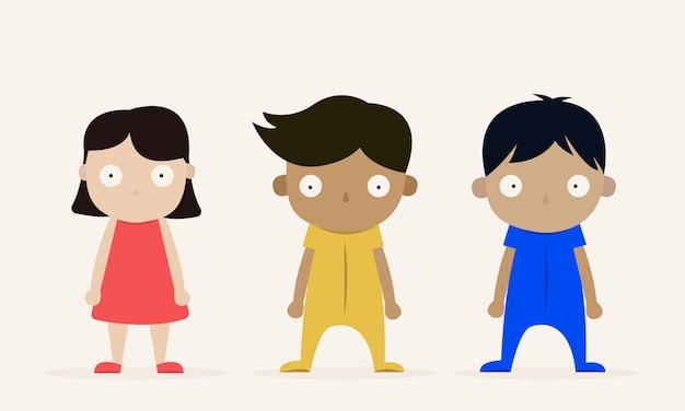 3人の子供キャラクター