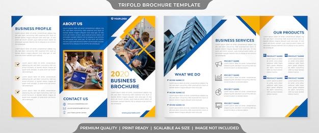 ビジネス3つ折りパンフレットのテンプレート