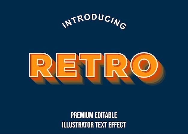 Ретро - оранжевый 3-й стиль текста с эффектом шрифта