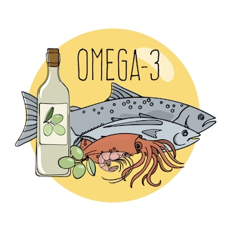 オメガ3健康食品低炭水化物