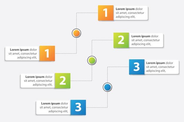 3オプションベクトルとプレゼンテーションビジネスインフォグラフィックテンプレート
