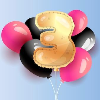 お祝い3歳の誕生日